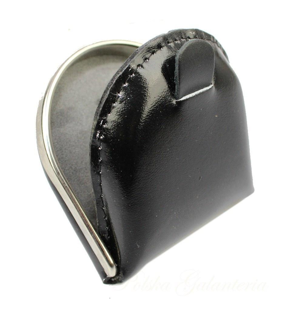 91f94b7f40079 Podkówka Skórzana Średnia Z Metalowym Okuciem Accardi Skóra Naturalna Licowa