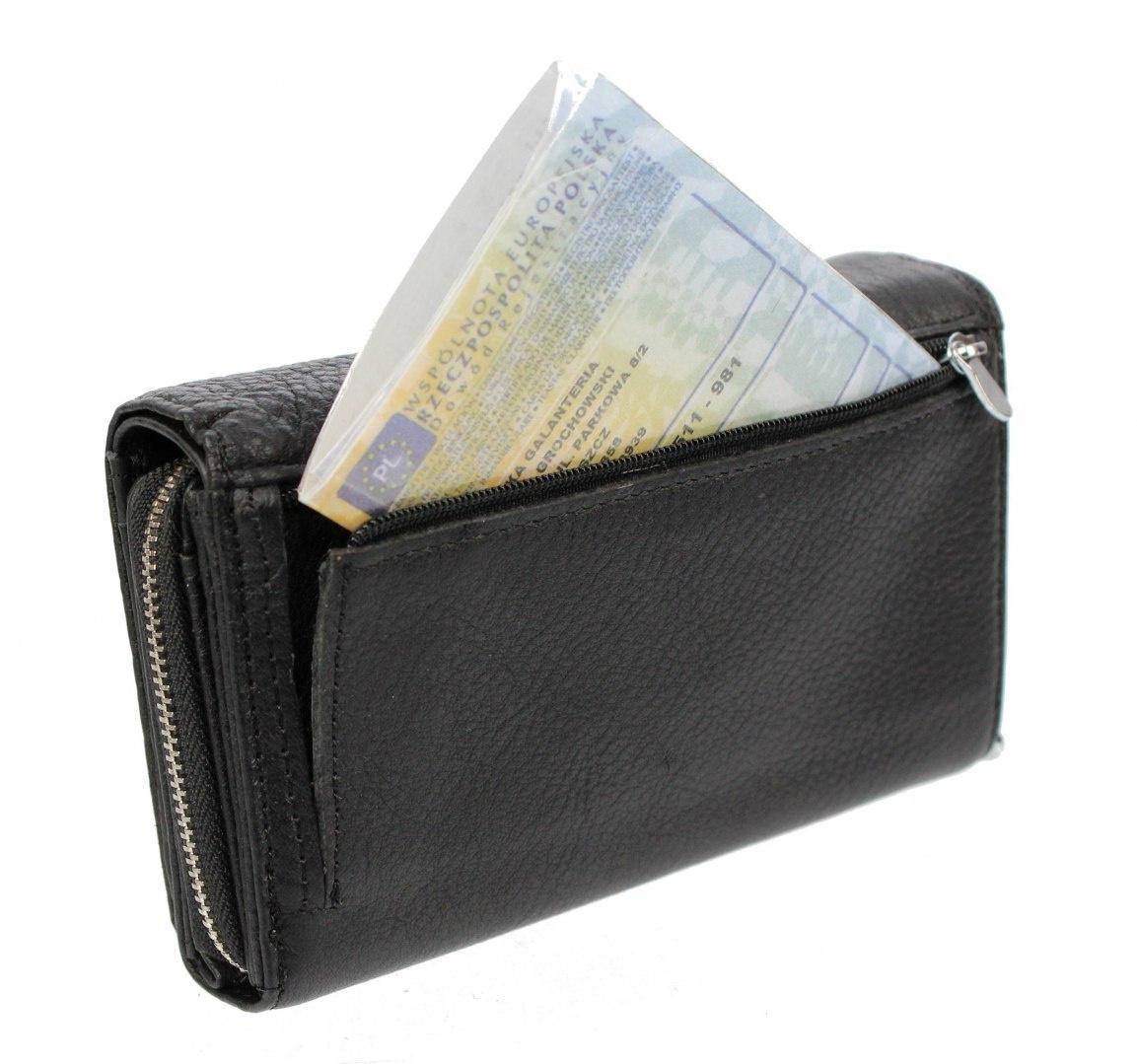 536540b62ec48 Torebunie.pl   Portfel Damski Skórzany MONEY MAKER Skóra Licowa Duży ...